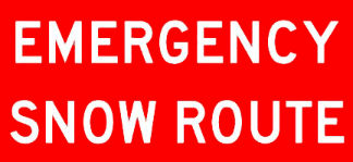 Emergency Snow Route