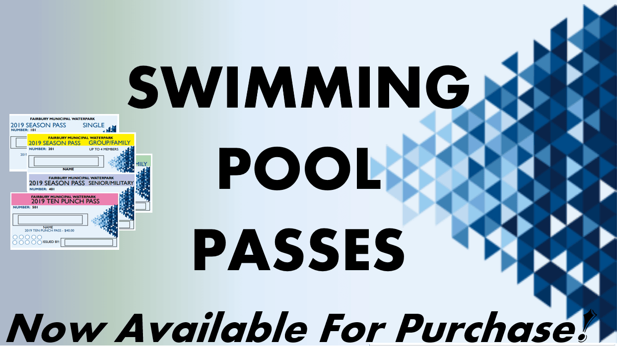 SWIMMING POOL PASSES FOR SALE BANNER