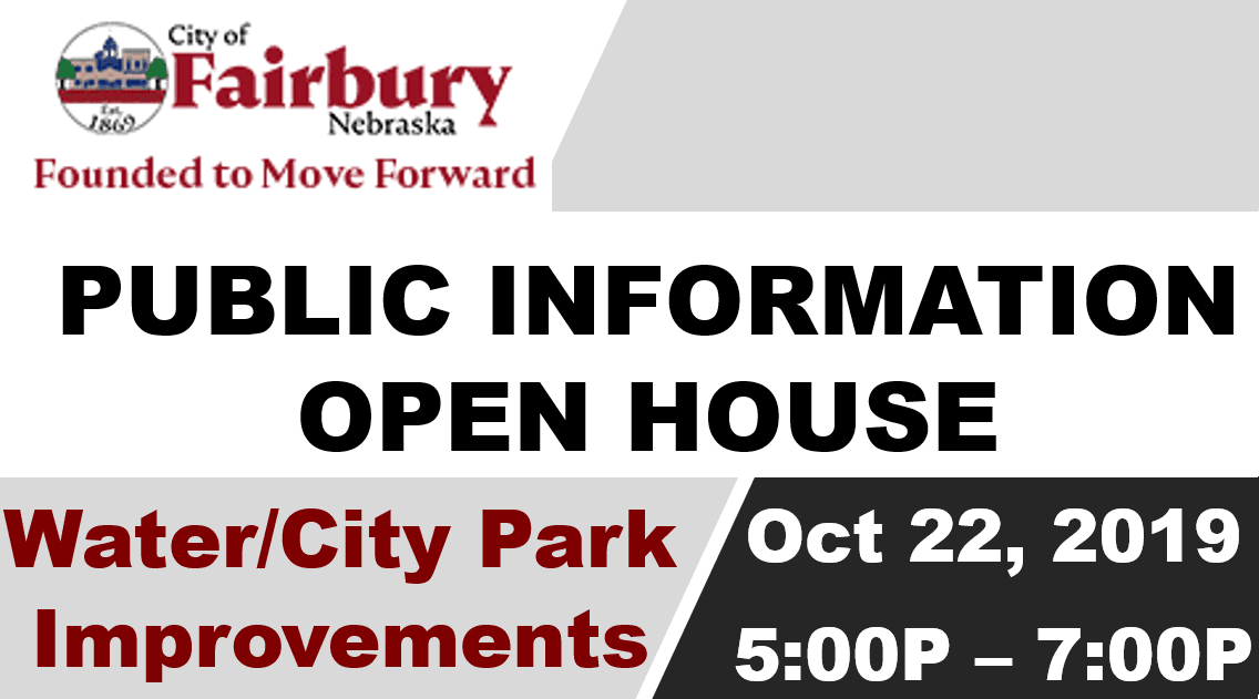 PUBLIC INFORMATION OPEN HOUSE OCT 22 2019