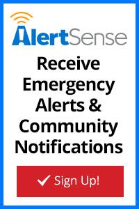 Sign up for AlertSense and receive emergency alerts and community notifications.